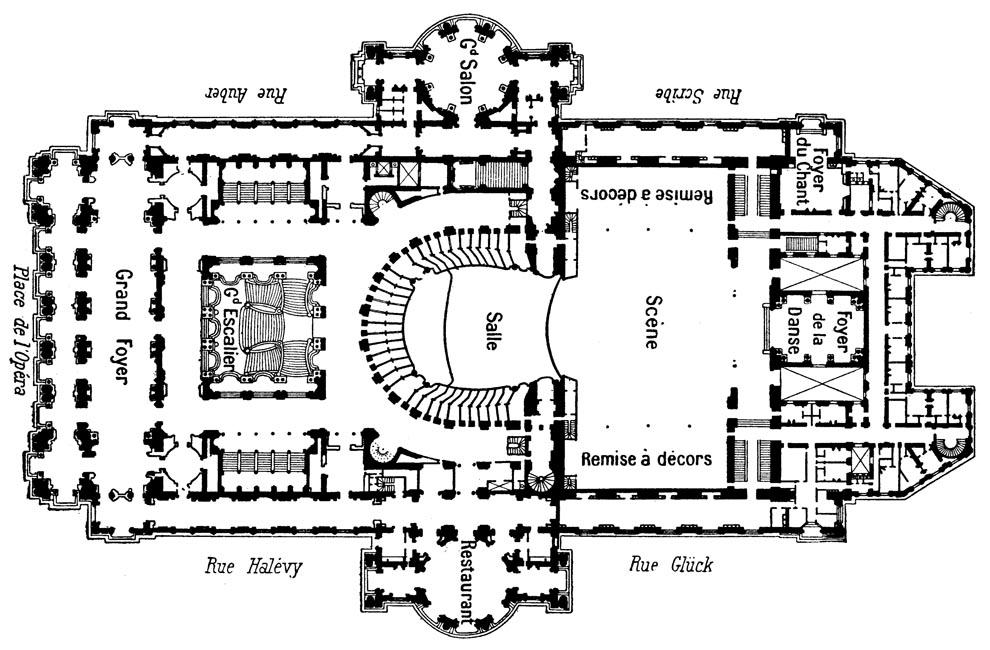Foyer Et Plan Focal : Plan de l opéra